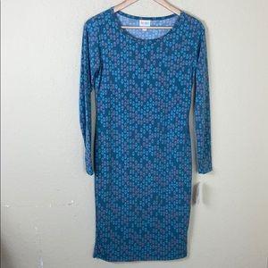 NWT LulaRoe Debbie star patterned dress Small